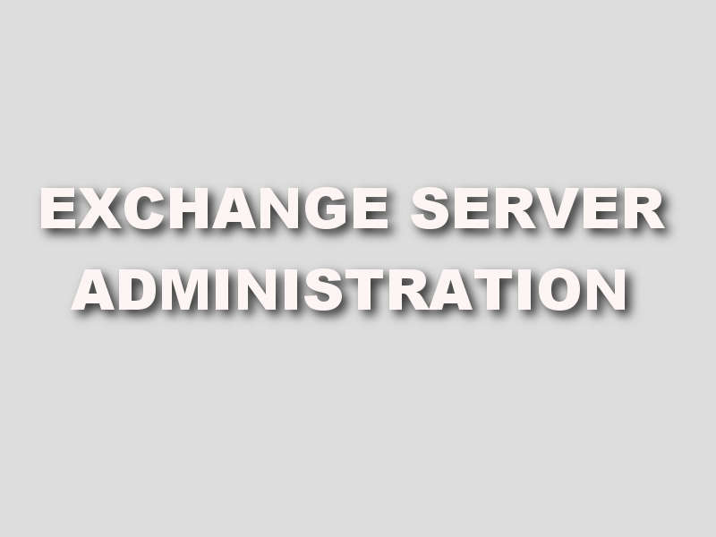 formation Exchange Server Administration