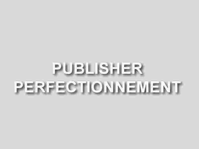formation publisher perfectionnement