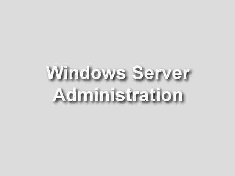 formation Windows Server Administration